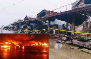 Fire hits Masinloc Public market
