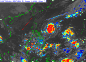 """Metro Manila, other areas in Luzon will experienced heavy rains Saturday night as """"Rolly"""" nears Bicol region"""