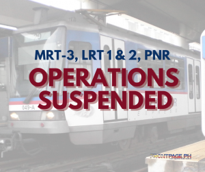 LRT-1, LRT-2, MRT-3 and PNR suspend operations due to Super Typhoon Rolly