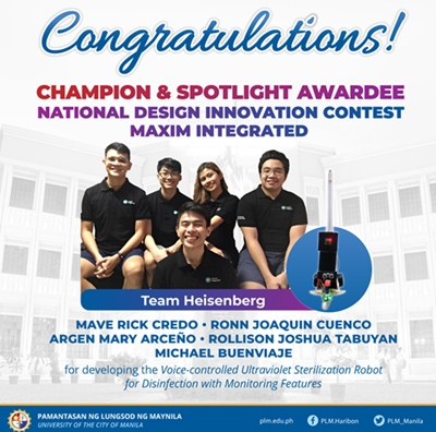 PLM students bag top prize in national competition