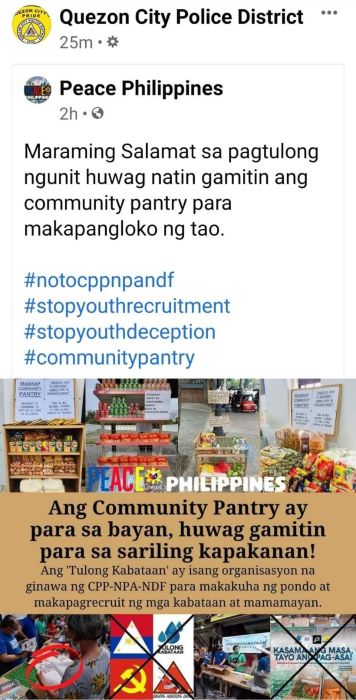 QCPD pinagpapaliwanag ng PLEB sa 'red-tagging' sa organizer ng Maginhawa Community Pantry