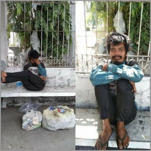 Man, hungry and supposedly unstable mentally, rescued in Binangonan