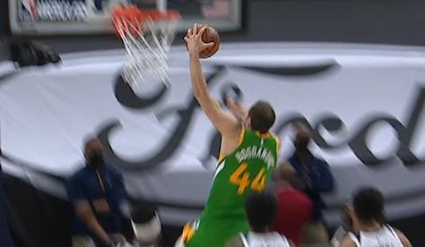 Bogdanovic hits 48, Jazz chews Nuggets