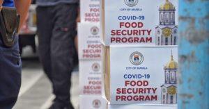 Ayudang food packs sa Maynila, ibinebenta online