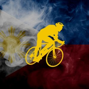 Filipino cyclists ride together to celebrate the 123rd year of PH independence