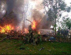 C-130 plane ng PAF bumagsak sa Sulu, 17 sundalo patay, 40 sugatan