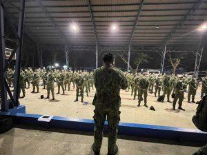 Karagdagang pwersa ng PNP, dumating na sa Bataan