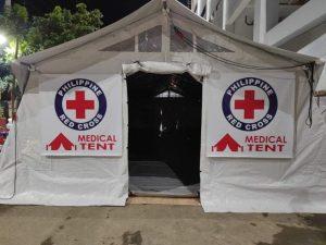 Red Cross, nagtayo ng medical tent sa Benguet General Hospital