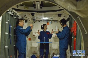 """""""Taikonauts"""" back to Earth after 90-day space mission"""