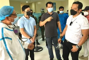 Medical staff at Pamarawan Hospital recycle used PPEs